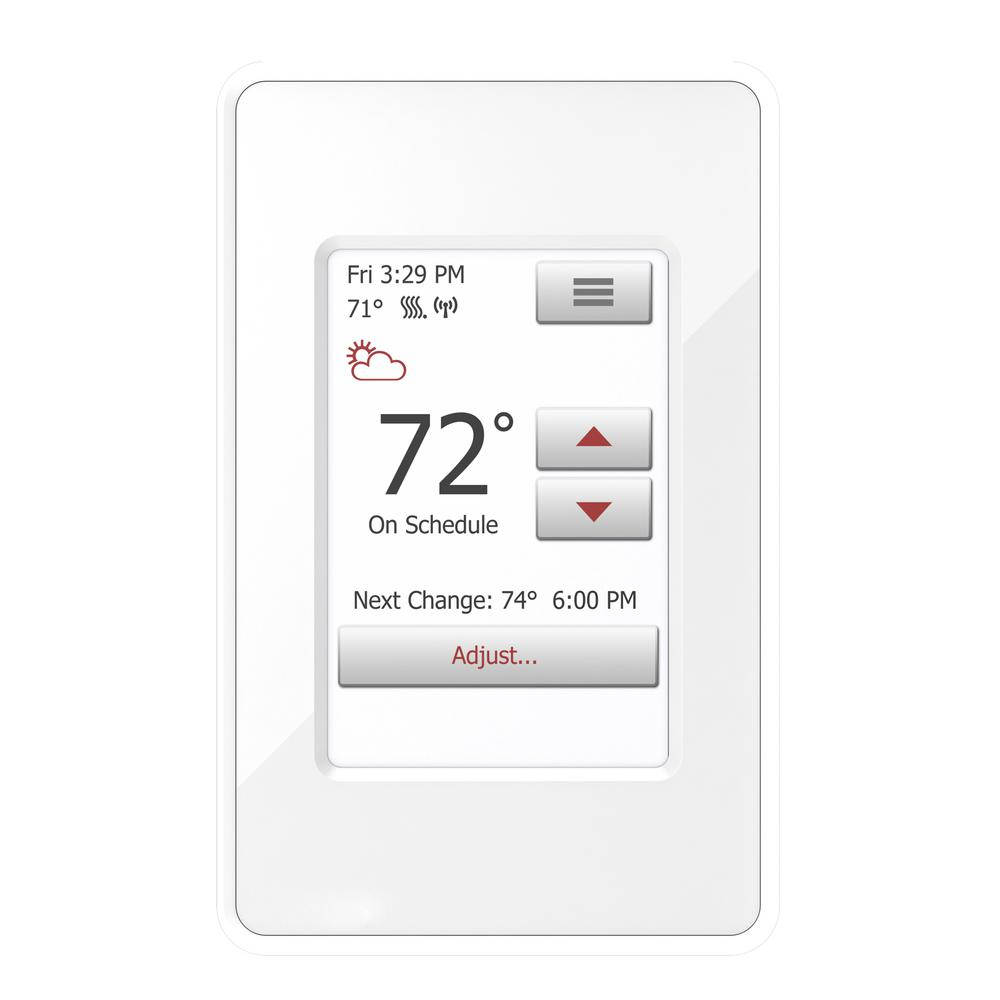WarmlyYours nSpire Touch WiFi and Touch Programmable Thermostat with Floor Sensor