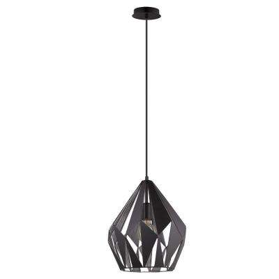 Carlton 1 Black and Silver Pendant Light