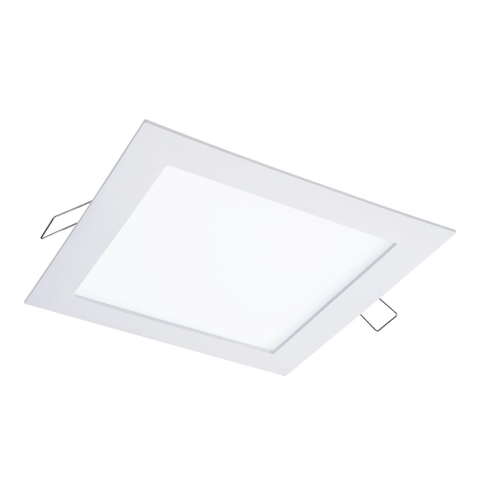 halo smd dm 4 85 in lens white round flushmount integrated led