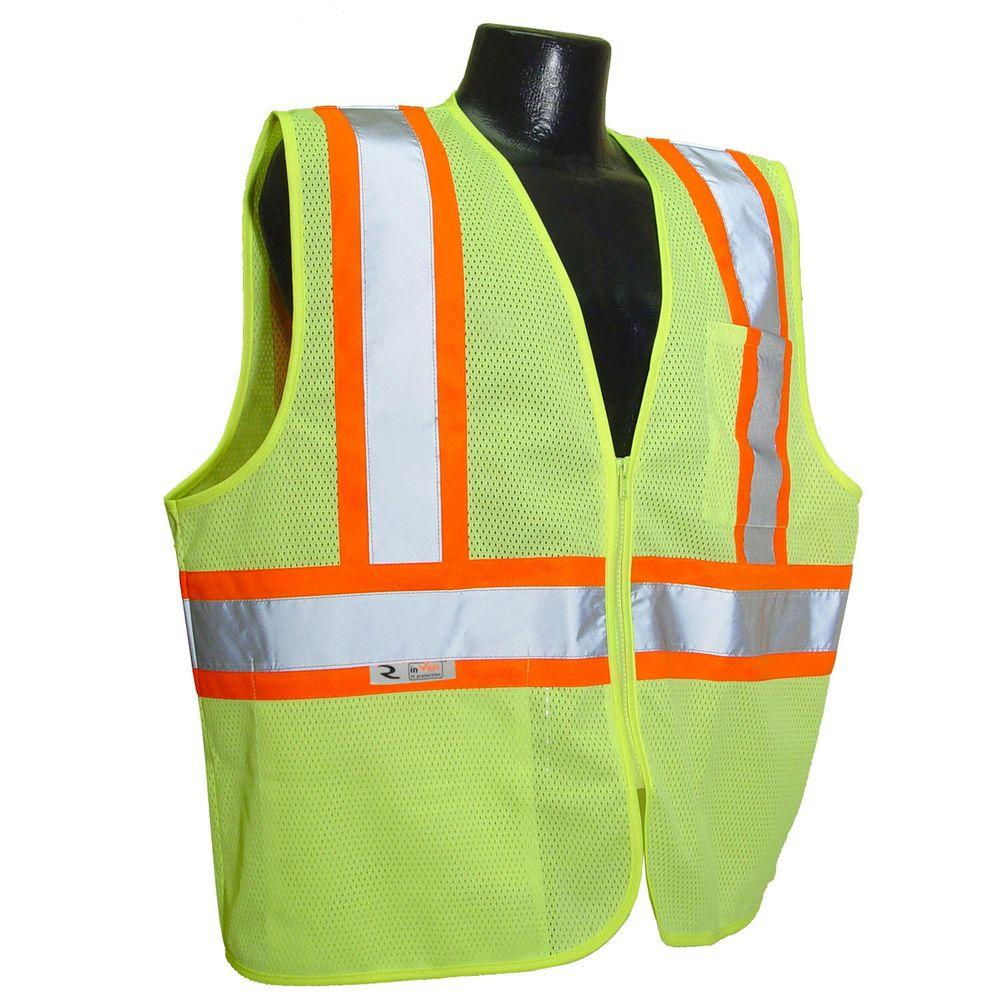 Fire Retardant with Contrast green Mes Ex Large Safety Vest