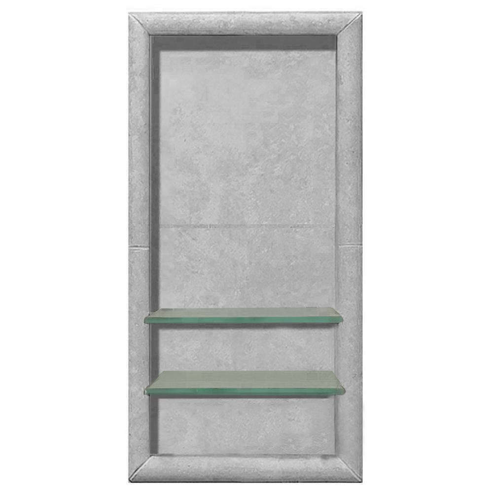 Full Tile 12 in. x 4 in. x 24 in. Shower Niche in Portland Cement