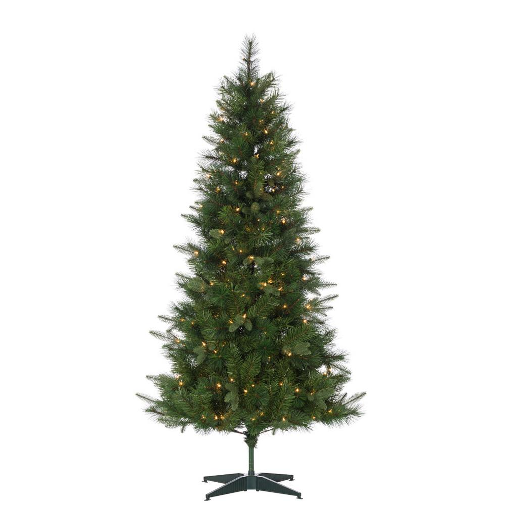 6 ft. Hard Mixed Needle Saratoga Pine Artificial Christmas Tree with