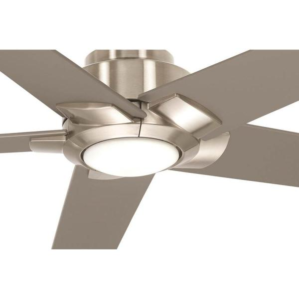 Aire A Minka Group Design Mickelson 52 In Integrated Led Indoor Brushed Nickel Dual Mount Ceiling Fan With Light 04616 The Home Depot