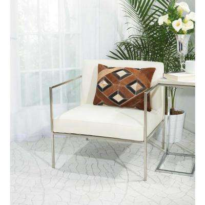 Four Diamonds 14 in. x 20 in. Brown Pillow