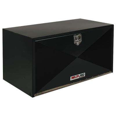 36 in. Long Heavy-Gauge Steel Under Bed Box in Black