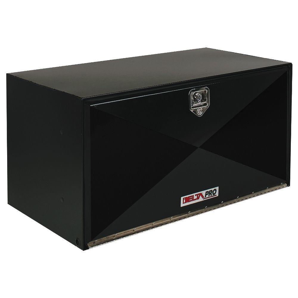 30 in. Long Heavy-Gauge Steel Under Bed Box in Black