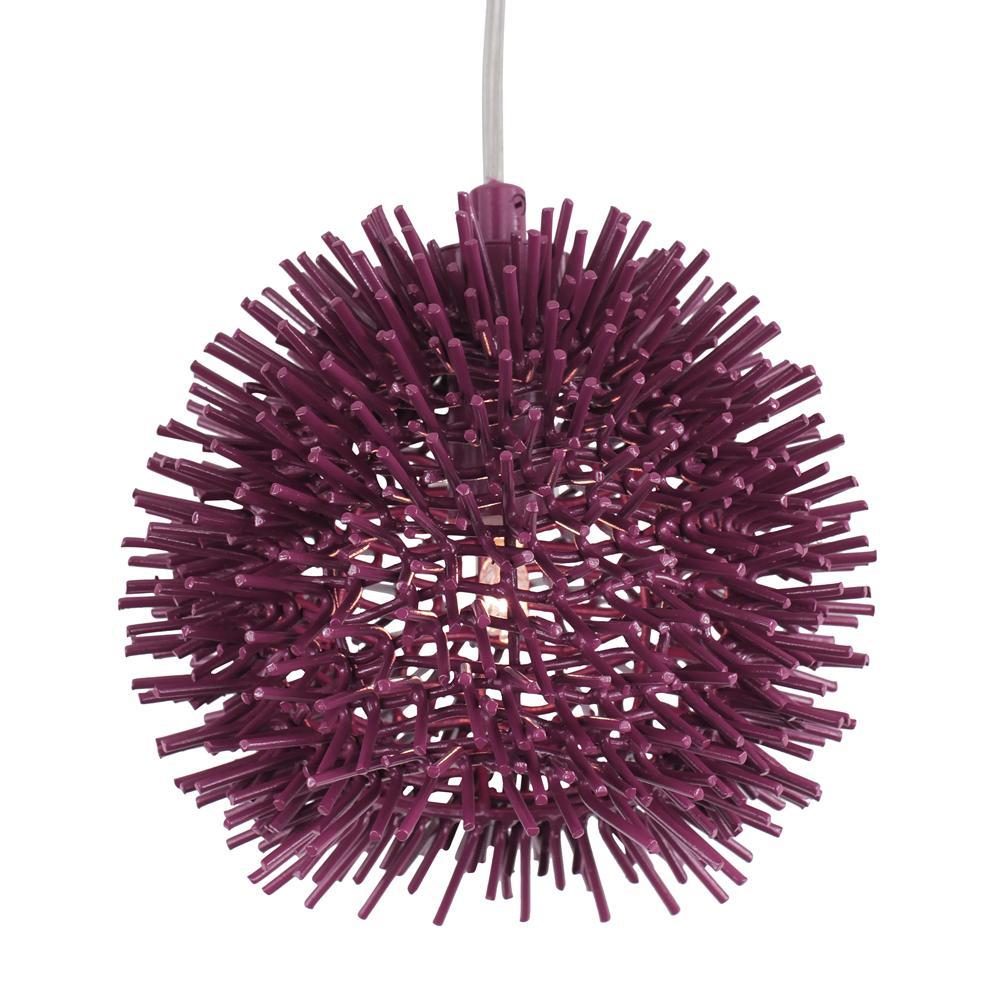 Urchin 1-Light Plum Mini Pendant