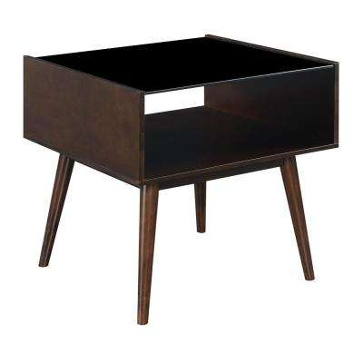 Morgan Espresso Mid-Century End Table