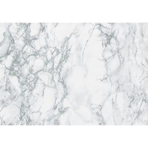 78.74 in. x 17.7 in. Grey Marble Adhesive Film (Set of 2)