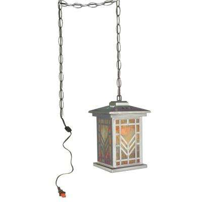 Aurora 1-Light Silver Hanging Mini Pendant Lamp