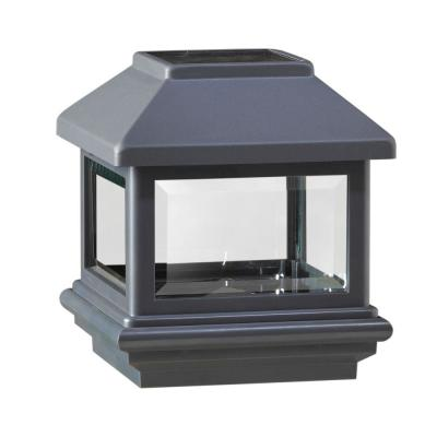 4 in. x 4 in. Antique Black Composite Solar Post Cap