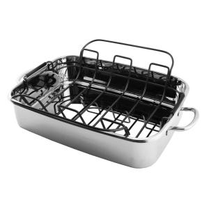 BergHOFF 15 inch Stainless Steel Roaster Pan by BergHOFF