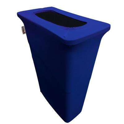 Stretch Spandex Trash Can Cover for Slim Jim 23 Gal. in Royal Blue