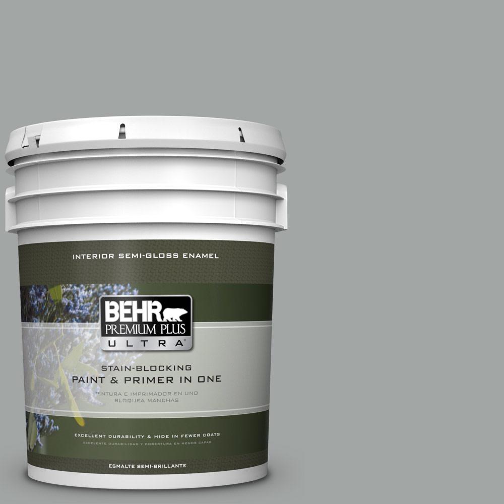 5 gal. #PPU25-16 Chain Reaction Semi-Gloss Enamel Interior Paint