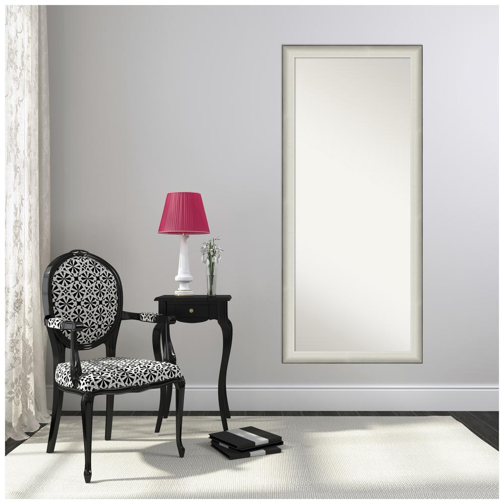 Amanti Art Allure White 28.50 in. x 64.50 in. Decorative Floor / Leaner Mirror was $536.0 now $315.16 (41.0% off)