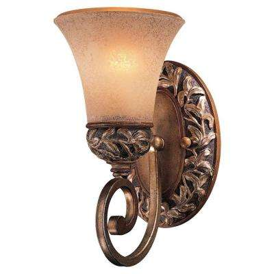 Salon Grand 1-Light Florence Patina Bath Light