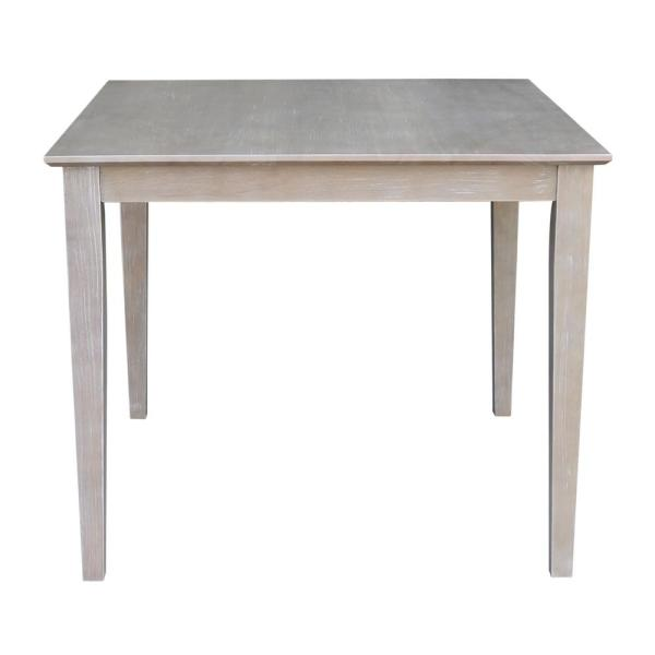 Weathered Taupe Gray Solid Wood Shaker Dining Table