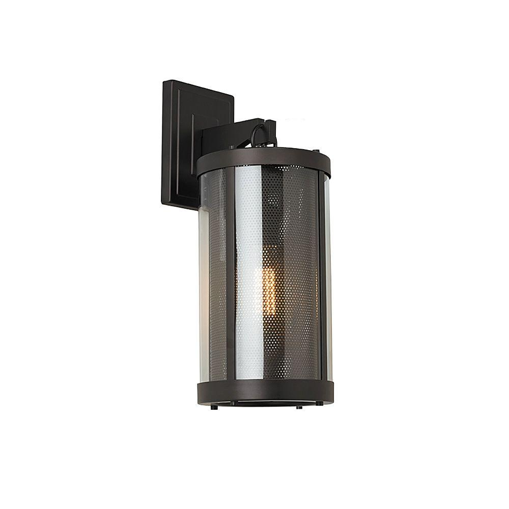 Feiss Bluffton Collection 1 Light Oil Rubbed Bronze Outdoor Wall Mount Sconce