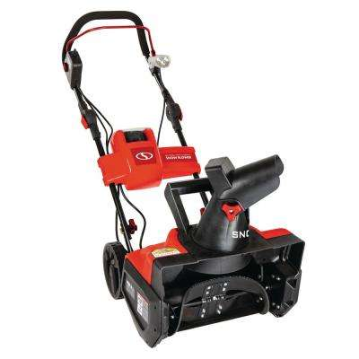 iON 40-Volt Cordless 18 in. Single Stage Brushless Cordless Electric Snow Blower Refurbished in Red