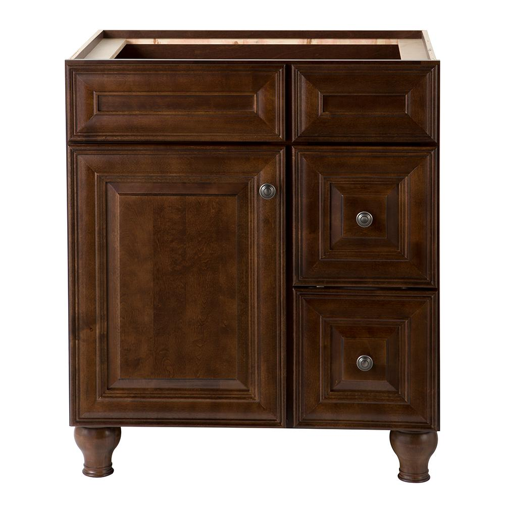 home decorators collection templin 30 in w x 22 in d bathroom vanity cabinet in coffee. Black Bedroom Furniture Sets. Home Design Ideas