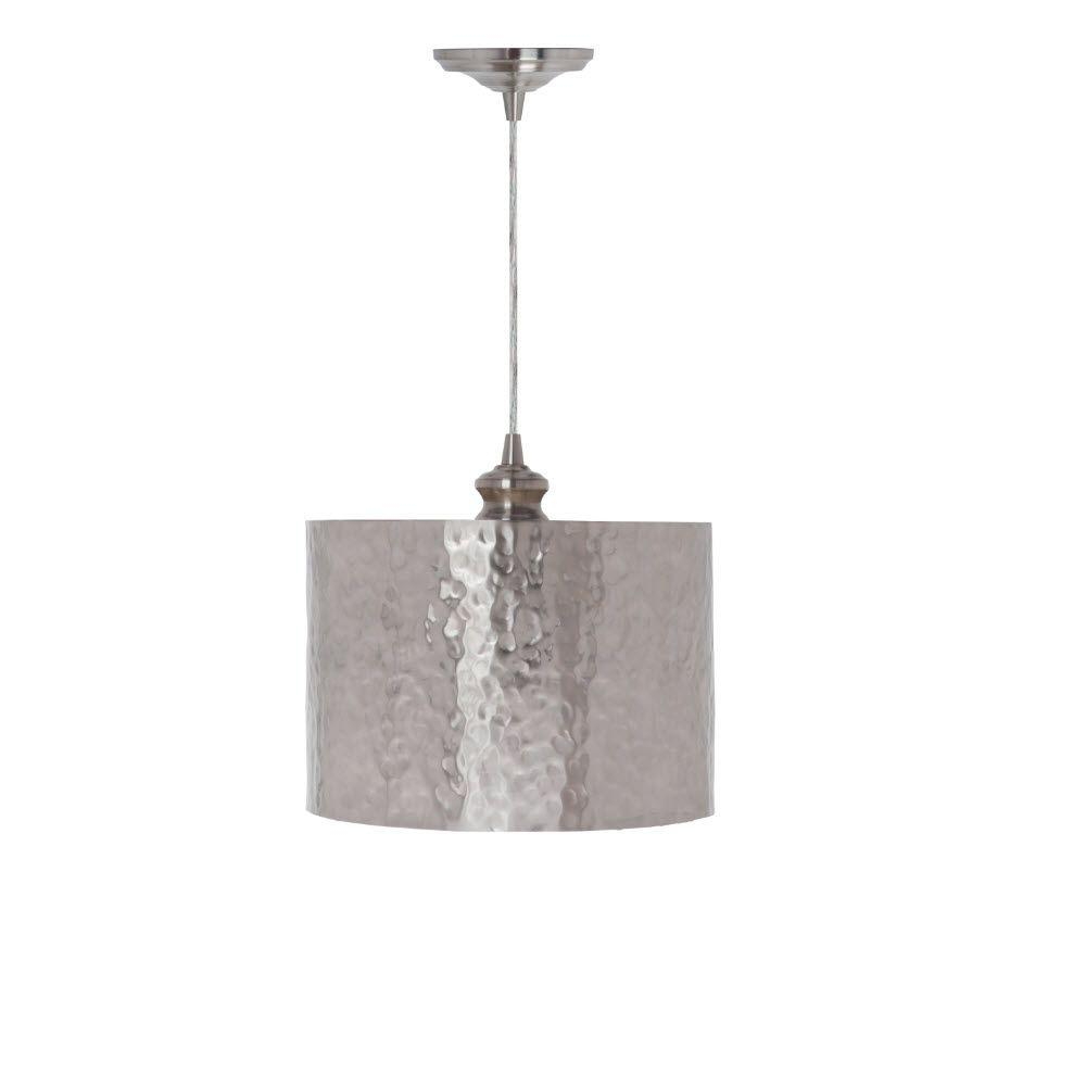 Home Decorators Collection Hammered Brushed Nickel Pendant 1235505220 The Home Depot