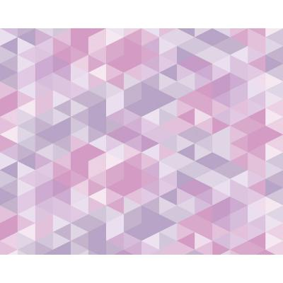 Pink Pastel Triangles Wall Mural