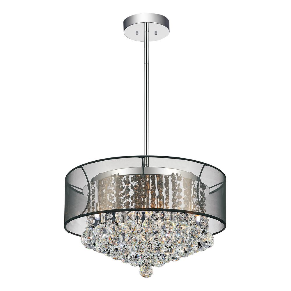 Radiant 9 Light Chrome Chandelier With