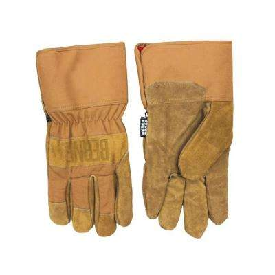 Medium Brown Duck Thinsulate Heavy Duty Utility Gloves (2-Pack)