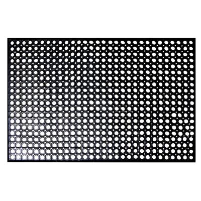 Indoor/Outdoor Durable Anti-Fatigue 36 in. x 60 in. Industrial Commercial Restaurant Bar Rubber Floor Mat in Black