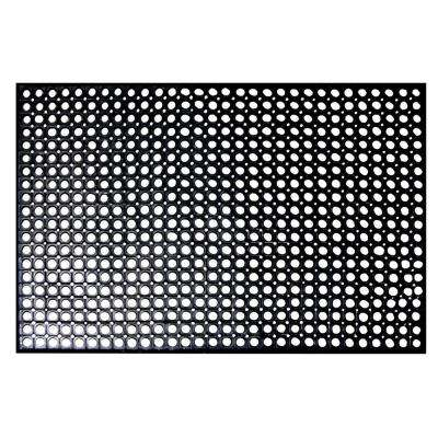 Indoor/Outdoor Durable Anti-Fatigue 36 in. x 60 in. Industrial Commercial Home Restaurant Bar Rubber Floor Mat in Black