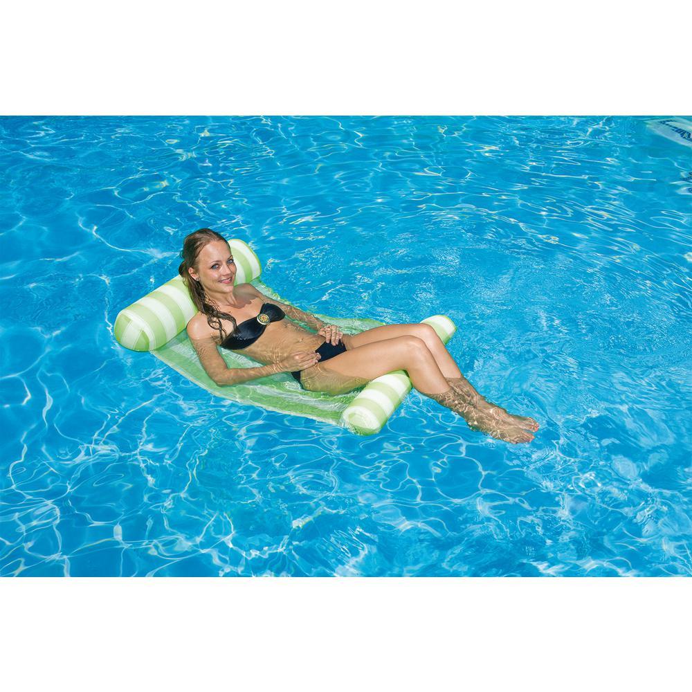 Green Water Hammock Swimming Pool Float Lounge