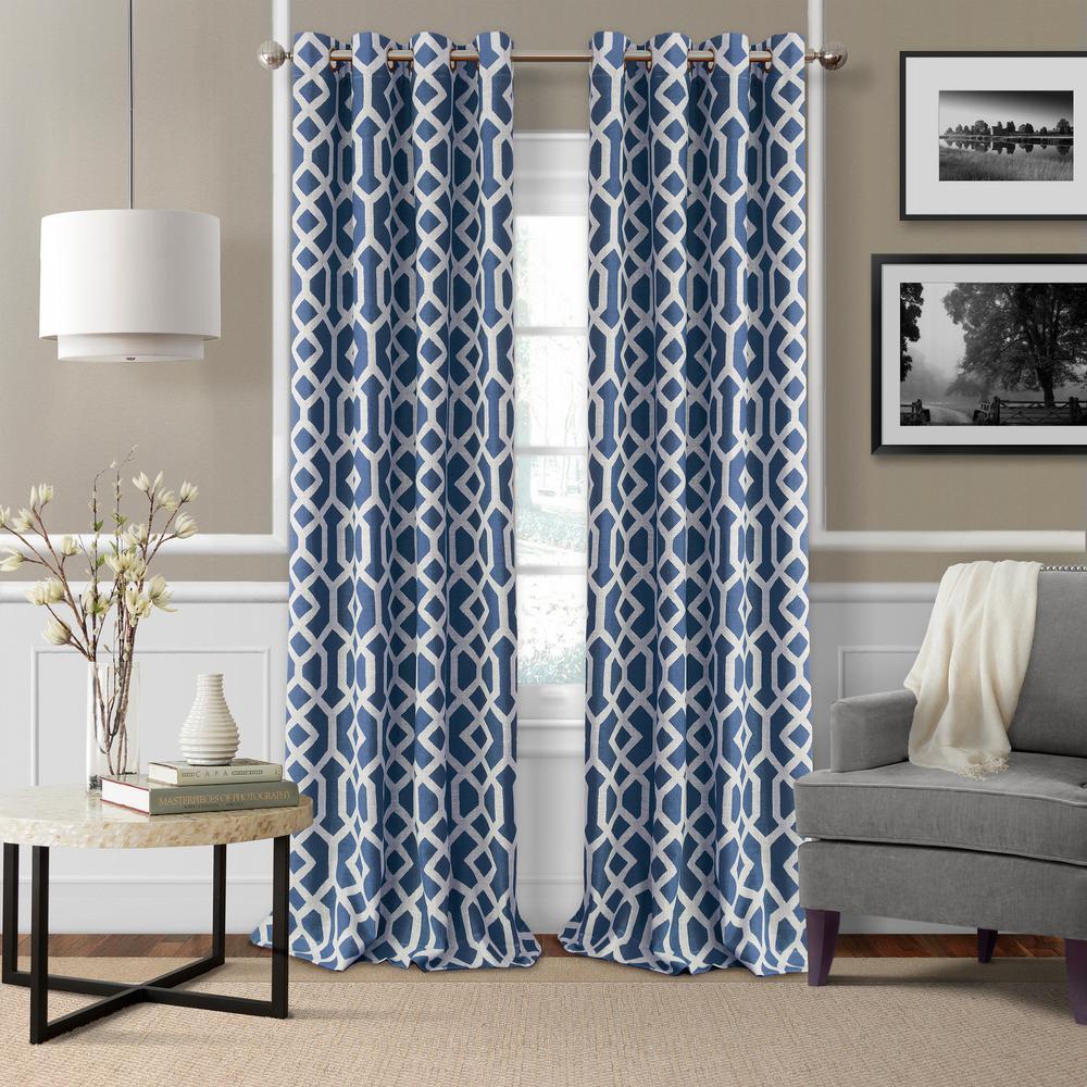 Grayson Trellis Room Darkening Window Curtain