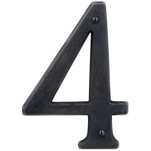 Baldwin 5 inch Oil-Rubbed Bronze House Number 4 by