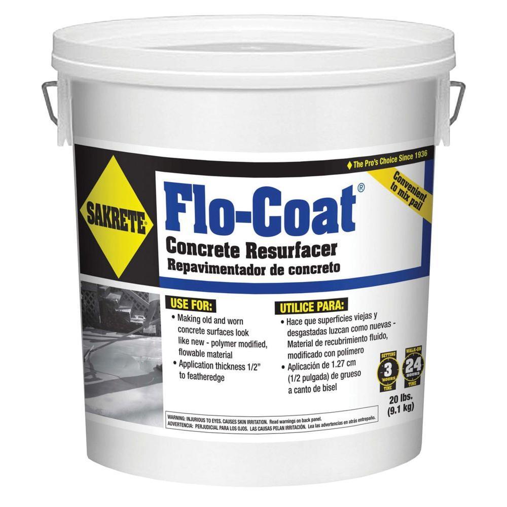 Sakrete 20 lb flo coat resurfacer 65450007 the home depot - Exterior concrete leveling products ...
