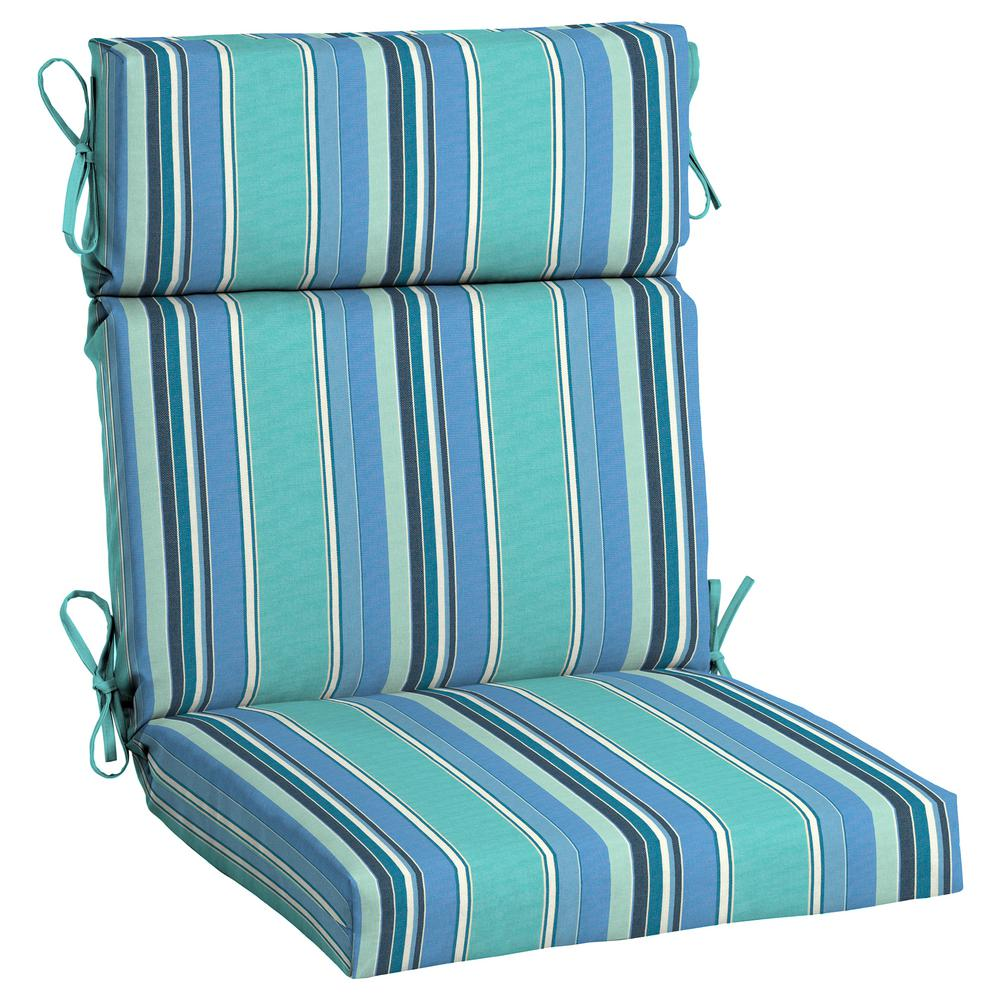 Home Decorators Collection 21 5 X 20 Sunbrella Dolce Oasis High Back Outdoor Dining Chair Cushion