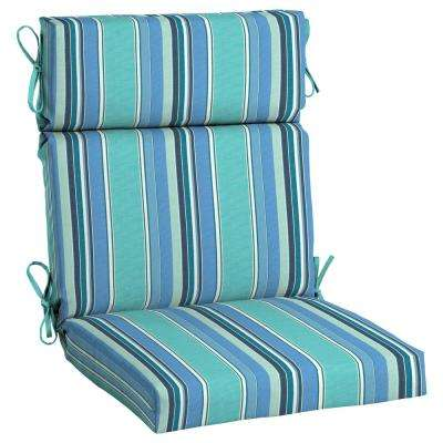 Sunbrella Dolce Oasis High Back Outdoor Dining Chair Cushion