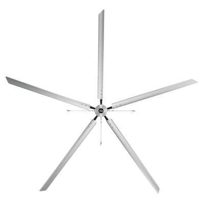 Titan 20 ft. 460-Volt Indoor Anodized Aluminum 3 Phase Commercial Ceiling Fan