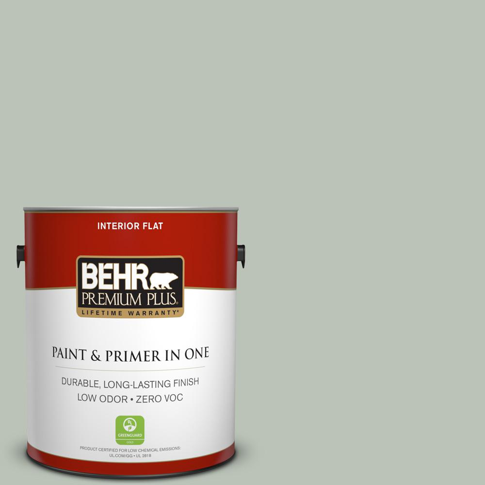 1 gal. #PPU11-11 Summer Green Zero VOC Flat Interior Paint