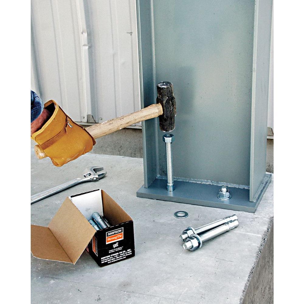 "1//2/"" x 7/"" Concrete Wedge Anchor Zinc Simpson Strong-Tie WA50700 25"