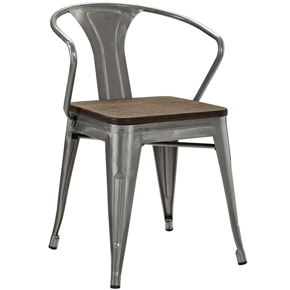 bamboo dining chairs. MODWAY Promenade Gunmetal Bamboo Dining Chair Chairs