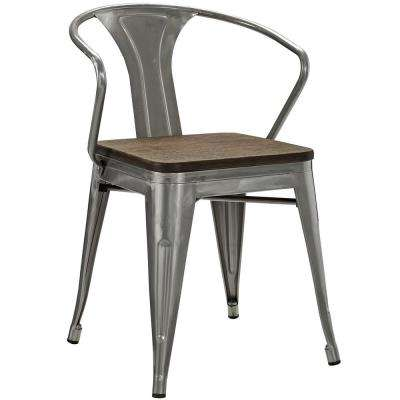 Promenade Gunmetal Bamboo Dining Chair