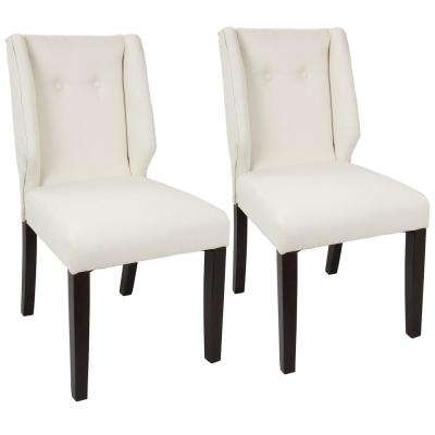 Rosario Walnut and Cream Dining Chair (Set of 2)