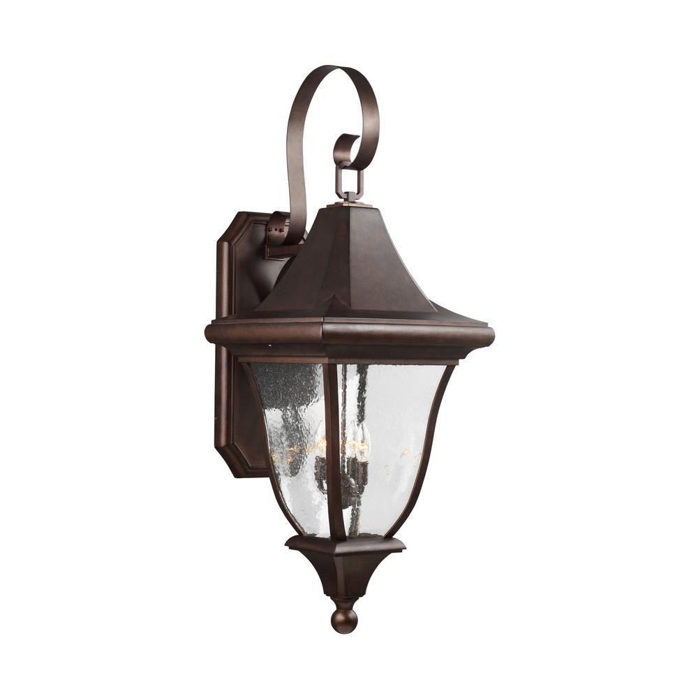 Oakmont 4-Light Patina Bronze Outdoor Wall Lantern
