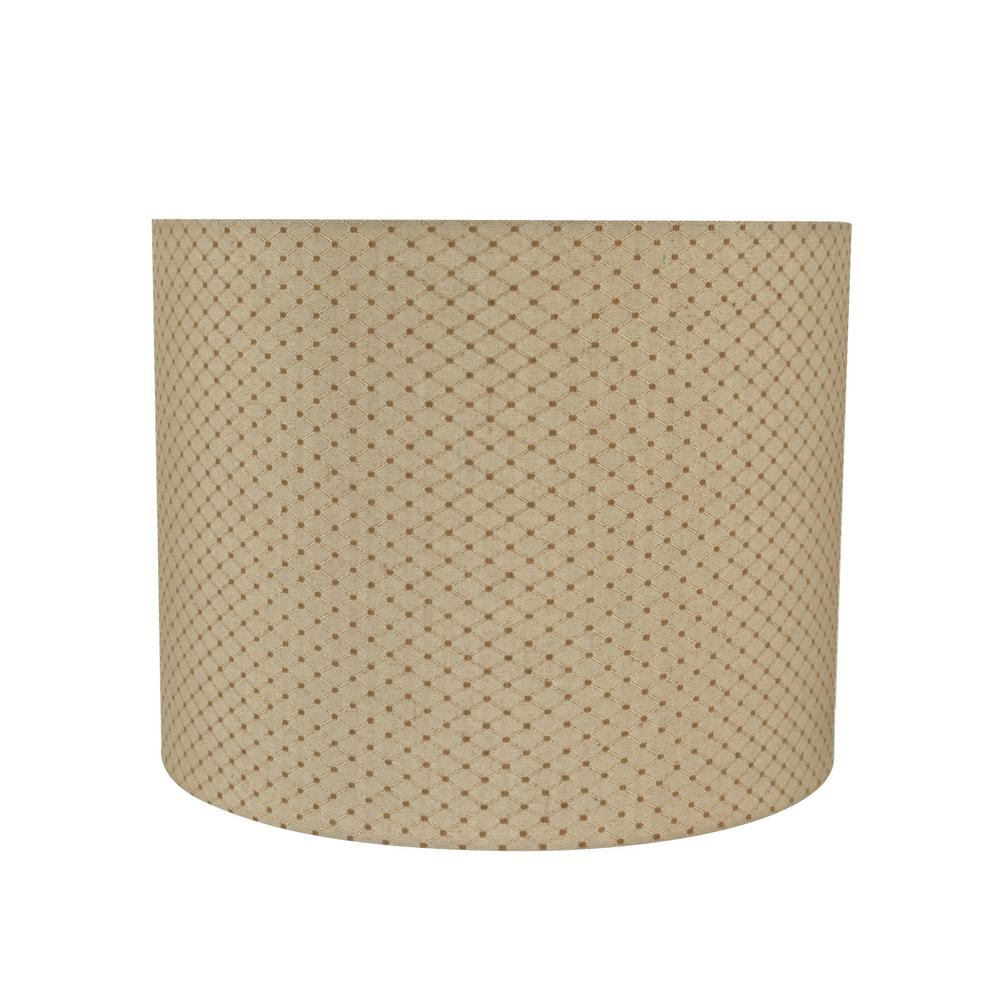 85bbfefb35e6 Aspen Creative Corporation. 14 in. x 11 in. Beige Drum/Cylinder Lamp Shade