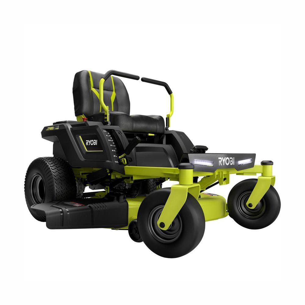 RYOBI 42 in  100 Ah Battery Electric Zero Turn Riding Mower