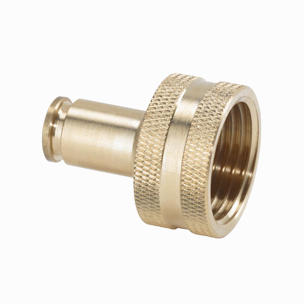 3/8 in. Brass Slip Lock Hose Adapter