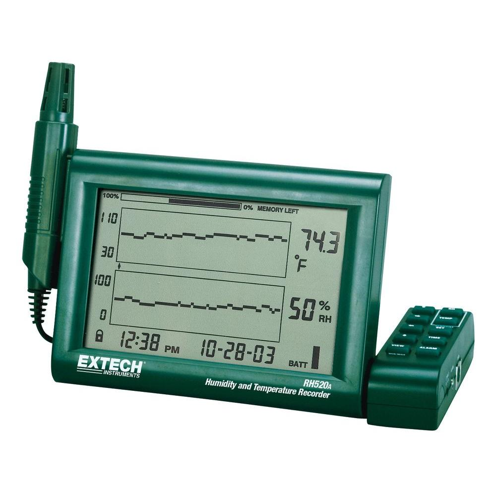 Humidity and Temperature Chart Recorder with 240-Volt Adapter