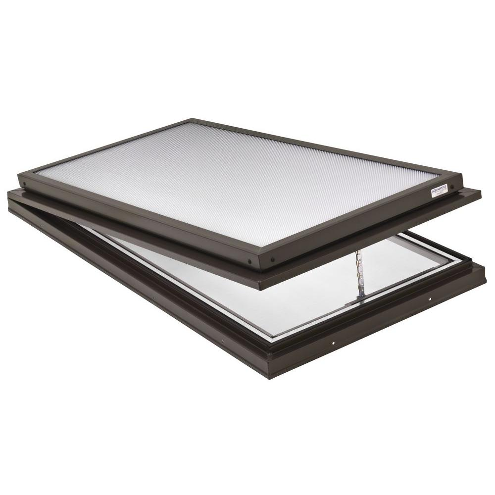 Prismatic 2 ft. x 4 ft. Venting Curb-Mounted Flat Skylight