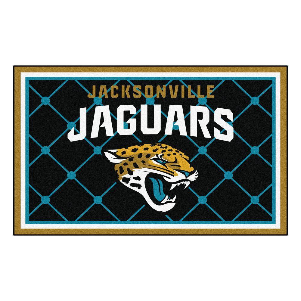 FANMATS Jacksonville Jaguars 4 ft. x 6 ft. Area Rug