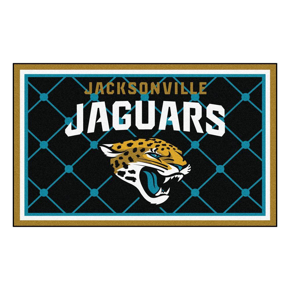 fanmats jacksonville jaguars 4 ft x 6 ft area rug 6583 the home